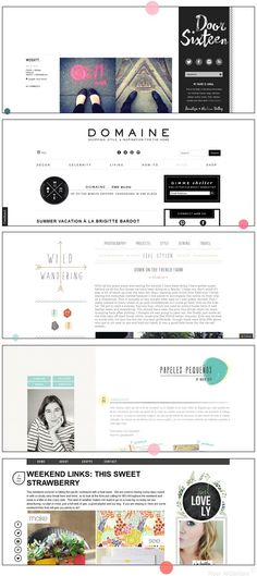 I like the artfullness if that is a word for the last blog design where it shows the blog owner's picture with a pretty design overlapping it just slightly.  I would like to be able to update that picture often and easily.