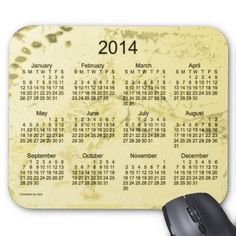 Create a Custom Mousepad for home and office! Old Yellow Paint 2014 Calendar Mouse Pad Design from Calendars by Janz