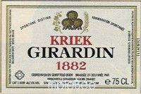 Label van Girardin Kriek 1882