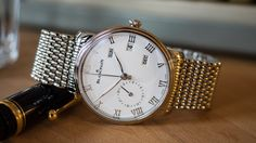 """Hands-On: The Blancpain Villeret Annual Calendar GMT In Steel"" via @watchville"