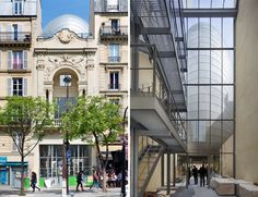 Renzo Piano infills middle of Paris block with pathe foundation