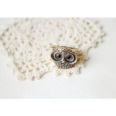 Retro Wise Owl Ring