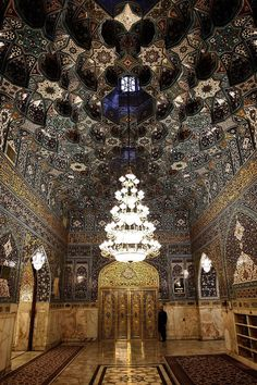 Hatam Khani Porch,Imam Reza shrine, Mashhad, Iran (Islamic Art)