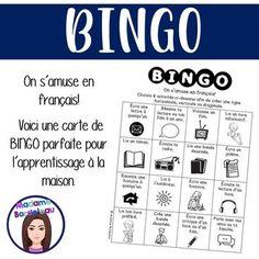 Voici une activité de Bingo pour engager les élèves à pratiquer leur français (lecture, écriture, oral). Quelques activités sont: Lis ton livre préféré. Lis à l'extérieur. Crée une bande dessinée. Écris un poème. Raconte une histoire à quelqu'un. Parle avec tes amis ou ta famille.Vous pouvez envoyer... Bingo, Future Classroom, Classroom Ideas, Voici, Learning, Amigos, Reading, Everything, Studying