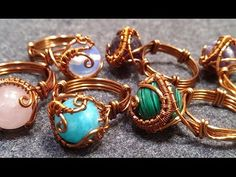 handmade jewelry - Wire Jewelry Lessons - DIY - How to make wire ring (slow)…