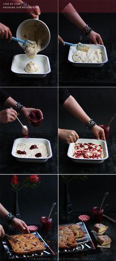 Step By Step - Rhubarb Jam Butter Cake