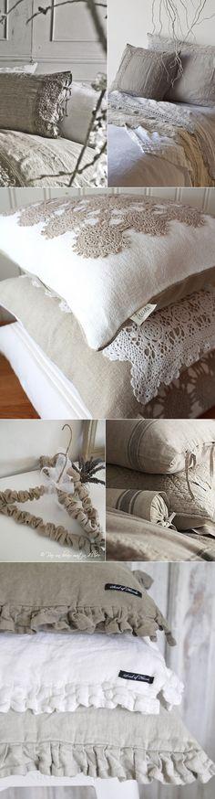 linne inredning linen inspiration handarbete sy broderi dekoration ide tips
