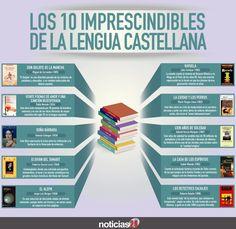 10 libros imprescindibles para la lengua castellana #infografia #infographic