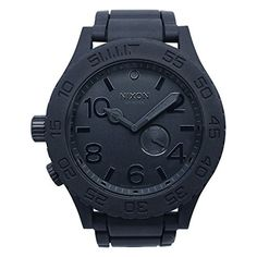 Men's Wrist Watches - NIXON Quartz Stainless Steel and Silicone Watch ColorBlack Model A236000 >>> Continue to the product at the image link. (This is an Amazon affiliate link)