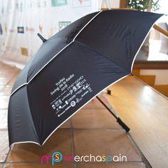 Paraguas personalizado realizado para la celebración del torneo de golf - Trofeo Swing de la Radio 2018  www.merchaspain.com  #paraguaspersonalizados #promotionalumbrellas #Mallorca #regalospublicitarios #merchandising #quality #luxurygifts #raining #merchaspain #umbrellas #DIY #regalospersonalizados