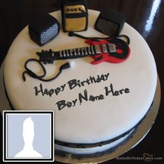 Write name on Music Birthday Cake For Boys. This is the best idea to wish anyone online. Make everyone's birthday special with name birthday cakes. You can add photos now.