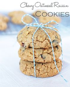 The best Oatmeal Raisin Cookies are chewy, soft and packed with raisins!   Recipe by @haleydwilliams