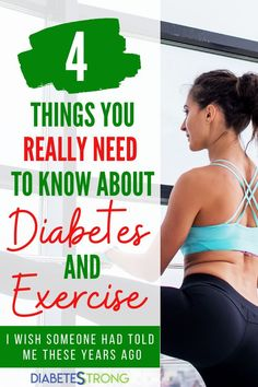 Diabetes and exercise - I have always known at some level that exercise did good things for my blood glucose, even before I had my first blood glucose meter. Being active always made me feel better, physically and emotionally. Here are some things that I know about diabetes and exercise that I wish someone had told me years ago. #diabetes #exercise #diabetescare #diabetestips #fitnesstips #diabetesstrong #managingdiabetes