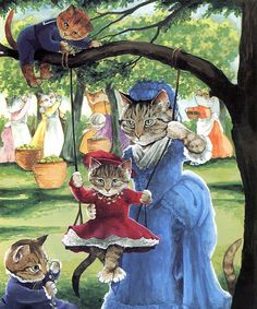 Victorian Cats Susan Herbert  Antique / by HeatherwoodArtPrints, $9.50