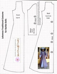 Image result for Barbie Clothes Patterns Free Printable
