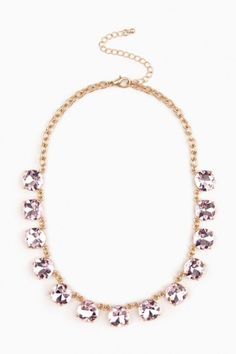 Bella Necklace in Pink
