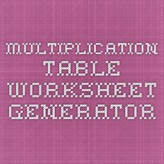 math worksheet : 1000 images about 4th grade on pinterest  states of matter 4th  : Multiplication Table Worksheet Generator