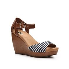 Dr. Scholls Milestone Wedge Sandal  These are SO comfortable AND they've got a nautical vibe going on!