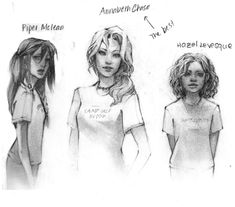 I love this picture and how it really shows their age- Annabeth being very mature and older, and such a realistic portrayal of Hazel! I think a lot of people forget she's only thirteen, even if she is incredible. (: