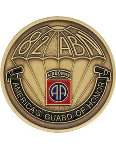 82nd Airborne Division Challenge Coin, America's Guard of Honor