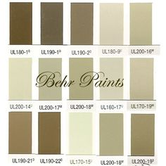 Behr Paints - paint colors for washing raw wood to achieve swedish look