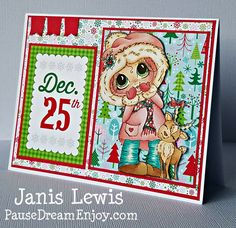 My Besties Handmade Christmas Card
