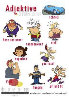 Adjektive Deutsch Wortschatz Grammatik