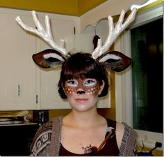 How to make a deer makeup for Halloween costume | halloween