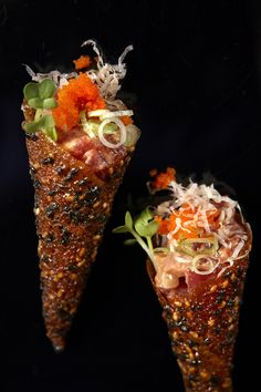 TUNA CONES ($24 for three cones) Spago Beverly Hills (176 North Canon Dr., Beverly Hills, CA 90210, (310) 385-0880)