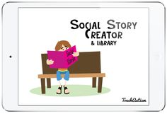 Social Story Creator & Library App Review. This app allows you to create, organize, share, and print social stories and visual schedules. #socialstorycreator #touchautism #appreview #socialstory #socialstories Elementary School Counseling, School Counselor, Social Emotional Learning, Social Skills, Social Work Offices, Free Educational Apps, Library App, Social Thinking, Project Based Learning