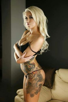 Hot Girl with tattoos. Nice #Hot #Girls #Tattoos