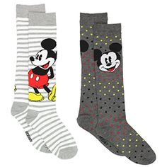 Mickey Mouse 2 pack Womens Socks #MickeyMouse #WomensSocks #CharacterSocks #Disney #YankeeToyBox