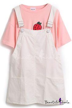 Fresh Plain Sleeveless Straps Dress with Double Pocket, Fashion Style Dresses Pastel Fashion, Kawaii Fashion, Cute Fashion, Look Fashion, Korean Fashion, Girl Fashion, Fashion Styles, Pretty Outfits, Cool Outfits
