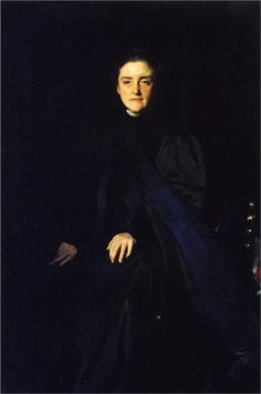 Martha Carey Thomas (January 2, 1857 - December 2, 1935) was an American educator, suffragist, and second President of Bryn Mawr College. (Portrait by John Singer Sargent).