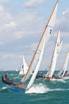 The XOD keelboat 'West Wind' racing in the Solent during Aberdeen Asset Management Cowes Week. #sailboats #boats #sailing
