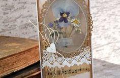Kartka ślubna z suszonymi kwiatami 3