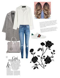 """""""Perfecta💓"""" by catch-thedream ❤ liked on Polyvore featuring MANGO, Gucci, Brandon Maxwell and Whiteley"""