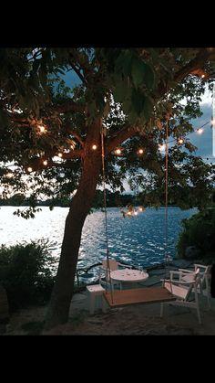 summer vibes at the lake lake vibes summer ; summer vibes at the lake ; Les Hamptons, Haus Am See, Outdoor Living, Outdoor Decor, Lakeside Living, Rv Living, Living Room, Jolie Photo, Lake Life