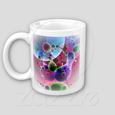 Dance of Globs V 2 Mug  (Double sided image, without slogan), images only, from Bill M. Tracer Studio. Available at Zazzle: www.zazzle.com/dance_of_globs_v_2_mug-168298367992624183  $13.95