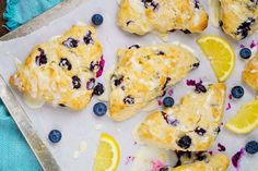 Glazed Lemon Blueberry Scones Recipe: Bake your way to a great Easter or Mother's Day brunch with this a delicious pastry! It's a perfect breakfast recipe! | The Love Nerds