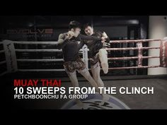 Muay Thai: 10 Sweeps From The Clinch Muay Thai Techniques, Martial Arts Techniques, Self Defense Techniques, Muay Thai Training, Thai Art, Judo, Kickboxing, Jiu Jitsu, Yoga Fitness