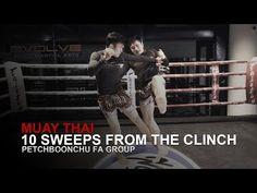 Muay Thai: 10 Sweeps From The Clinch Muay Thai Techniques, Martial Arts Techniques, Self Defense Techniques, Muay Thai Training, Thai Art, Krav Maga, Judo, Kickboxing, Jiu Jitsu