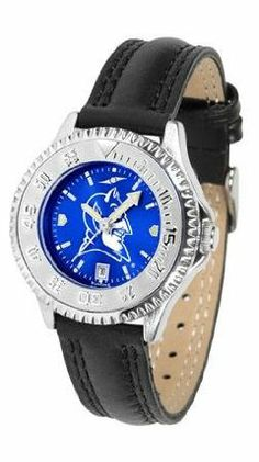 Duke Blue Devils NCAA Womens Leather Wrist Watch by SunTime. $79.95. Showcase the hottest design in watches today! A functional rotating bezel is color-coordinated to compliment your favorite team logo. A durable long-lasting combination nylon/leather strap together with a date calendar round out this best-selling timepiece.