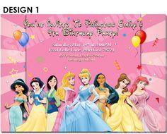 Free Printable Princess Birthday Invitations this away for