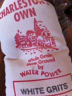 charleston grits + southern.  I actually order these through the mail so I am sure to get the real thing!