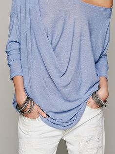 Free People Buckley Drape Top at Free People Clothing Boutique