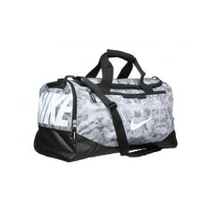 5f1f65a0d3f4 Nike Team Training Max Air Duffel Graphic Cool Grey Black White Camo Print  Bag And Luggage found on Polyvore featuring polyvore