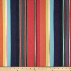 Kaufman Serape Stripes Deluxe Cotton Grey/Coral from @fabricdotcom  From Kaufman Fabrics, this yarn dyed cotton fabric is medium weight with a soft hand. Featuring bold yarn dyed vertical stripes, it is perfect for skirts, dresses and jackets.
