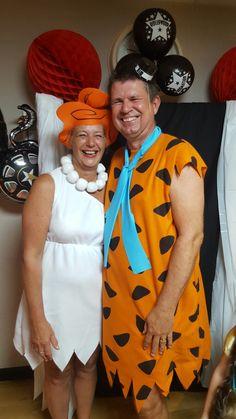 Wilma and Fred Flintstone fancy dress costume #yabadabadoo