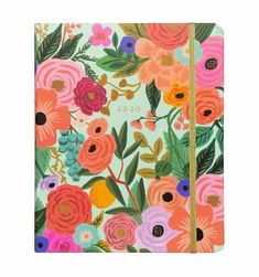 For school, work, or day-to-day organization, this floral planner featuring the Rifle Paper Co signature Garden Party design is a beautiful way to plan your day. Agenda Planner, Monthly Planner, Binder Planner, Memo Notepad, Calendar Pages, Rifle Paper Co, Foil Stamping, Cute Stickers, Planer